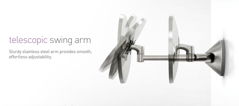telescopic swing arm