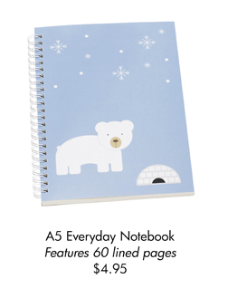 A5 Everyday Notebook Features 60 lined pages