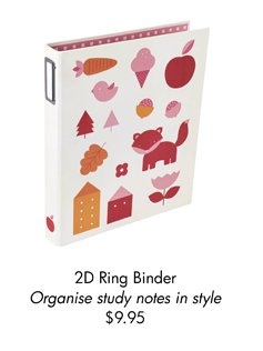 2D Ring Binder Organise study notes in style