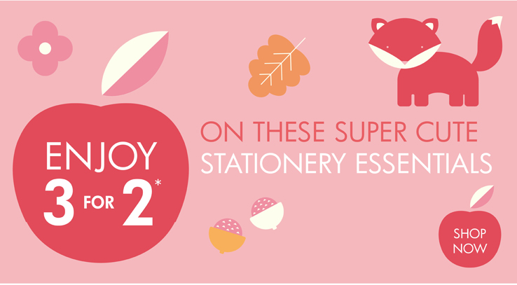 Enjoy 3 for 2* on these super cute essentials  Shop now