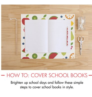 How to: cover school books  Brighten up school days and follow these simple steps to cover school books in style.