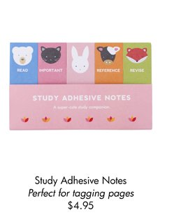 Study Adhesive Notes  Perfect for tagging pages