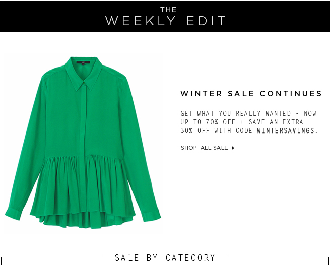 The Weekly Edit: Shop Sale by Category