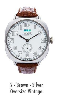 2 - Brown - Silver Oversize Vintage