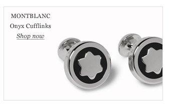 Montblanc Onyx Cufflinks