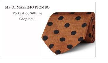 MP Di Massimo Piombo Polka-Dot Silk Tie