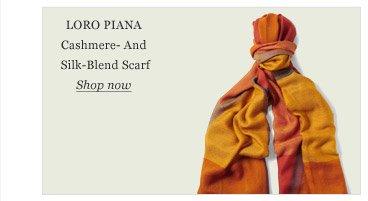 Loro Piana Cashmere- And Silk-Blend Scarf
