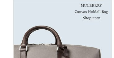 Mulberry Canvas Holdall Bag