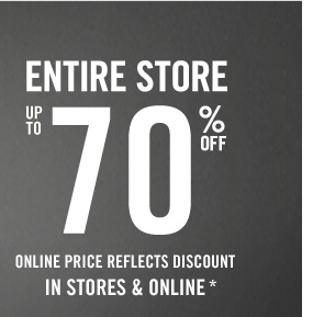 THE HOTTEST A&F WINTER SALE ENTIRE STORE  UP TO 70% OFF ONLINE PRICE REFLECTS DISCOUNT IN STORES & ONLINE*