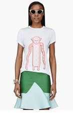 OSTWALD HELGASON Pink Tribal Monkey T-Shirt for women