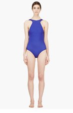 DION LEE Royal Blue Backless Onepiece for women
