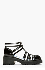 KENZO Black & White Cut-Out Chunky Mortisia Sandals for women