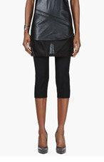 MAISON MARTIN MARGIELA Black mesh Skirt layered trousers for women