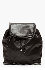 STELLA MCCARTNEY Shaggy Deer Chain-Trimmed Rucksack for women