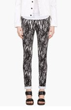 MM6 MAISON MARTIN MARGIELA Black Printed Slim Trousers for women
