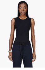 MAISON MARTIN MARGIELA Black stretch classic Bodysuit for women