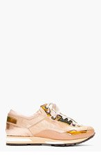 LANVIN Rose Tone Low Top Sneakers for women