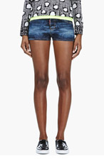 DSQUARED2 Blue Camo print Mimetico Wash shorts for women