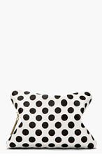 3.1 PHILLIP LIM Black Calfhair Polka Dot 31 Hour Cosmetic Case for women
