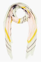 ALEXANDER MCQUEEN Pink Skull & Bird Scarf for women