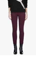 MAISON MARTIN MARGIELA Burgundy Stretch Leggings for women