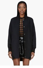 MAISON MARTIN MARGIELA Black Oversized Bomber for women