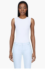 MAISON MARTIN MARGIELA White stretch classic Bodysuit for women