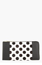 3.1 PHILLIP LIM Black Calf-Hair Polka Dot 31 Travel Wallet for women