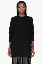 ACNE STUDIOS Black Zipped Sade Crewneck for women