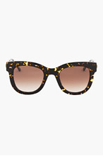 THIERRY LASRY Gold & Tortoiseshell Sexxxy 724 sunglasses for women