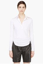 MARC JACOBS Ivory silk draping blouse for women