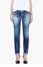 DSQUARED2 Blue Slim Nonna Patch Wash Jeans for women