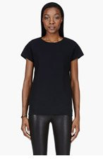 MAISON MARTIN MARGIELA Black pocket t-shirt for women