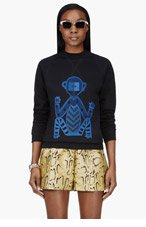 OSTWALD HELGASON Black Tribal Monkey Sweatshirt for women