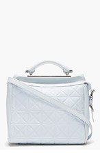 3.1 PHILLIP LIM Grey Leather Grid Ryder Small Satchel for women