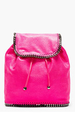 STELLA MCCARTNEY Pink Shaggy Deer Chain Trim Rucksack for women