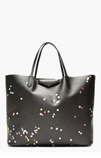 GIVENCHY Black Canvas Confetti Large Antigona Shopping tote for women