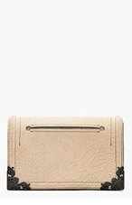 MCQ ALEXANDER MCQUEEN Beige Nubuck Embossed Grain Clutch for women