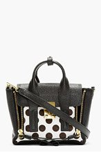 3.1 PHILLIP LIM Black Polka Dot Calfhair Pashli Mini Satchel for women