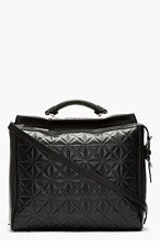 3.1 PHILLIP LIM Black Leather Grid Ryder Satchel for women