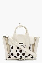 3.1 PHILLIP LIM Ivory Polka Dot Calfhair Pashli Mini Satchel for women