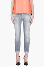 DSQUARED2 Grey Distressed Cool Girl Jeans for women