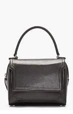 MCQ ALEXANDER MCQUEEN Black buffed leather top-handle bag for women
