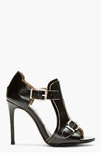 ACNE STUDIOS Black Leather Buckle Kayla Heels for women