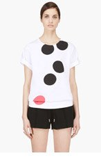 MARNI EDITION Black & Red Ink Dots T-Shirt for women