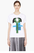 MARNI EDITION White Graphic Katja Schwalenberg Edition T-Shirt for women