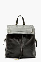 JEROME DREYFUSS Black Leather Caviar Florent Backpack for women