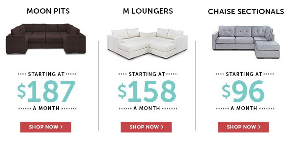 Sactionals Starting at $96/month - Shop Now!