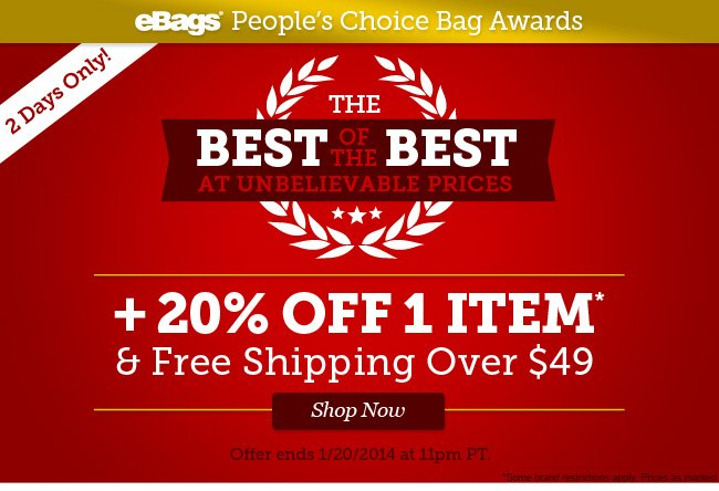 The Best of the Best at Unbelievable Prices! 20% Off 1 Item and Free Shipping Over $49! Shop Now.