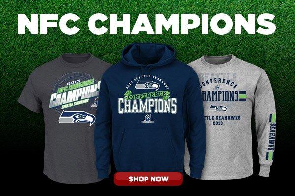 Shop Seattle Seahawks NFC Champs Gear